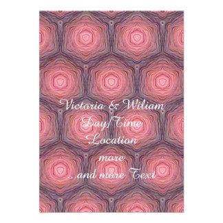 velvet pattern peach custom invites