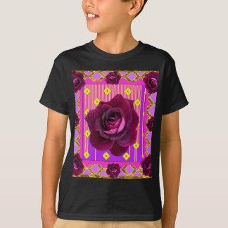Velvet Purple Rose Gypsy Style Pattern T-Shirt