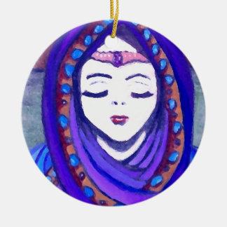 Velvet Queen Shae Fantasy Art Style Christmas Ornaments