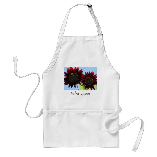 Velvet Queen Sunflowers Adult Apron