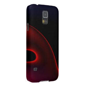 Velvet Red Black Abstract Galaxy S5 Cover