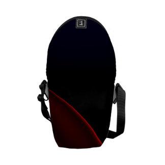 Velvet Red Black Abstract Messenger Bag