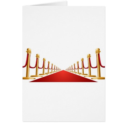 Velvet rope and red carpet illustration card