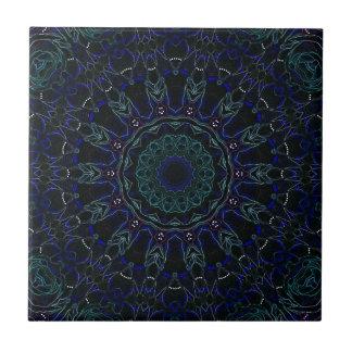Velvet Roses No. 3 Kaleidoscope Ceramic Tile