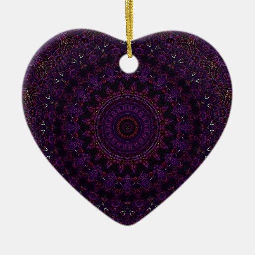 Velvet Roses Purple No. 6 Christmas Ornaments