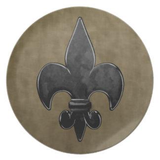 Velvet Saints Fleur De Lis Plate