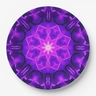 Velvet Star Mandala Paper Plate