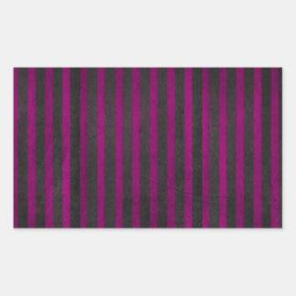 Velvet Stripes Purple Rectangle Stickers
