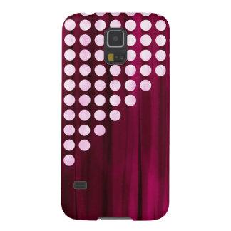 Velvet With White Polka Dots Pattern Galaxy S5 Case
