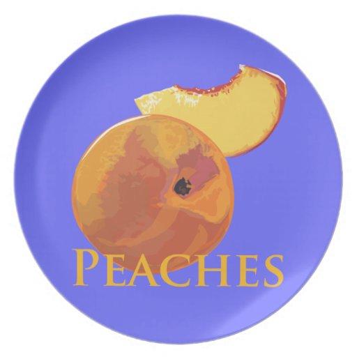 Velvety Peaches Melamine Plate
