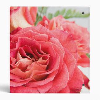 Velvety Pink Roses 3 Ring Binder