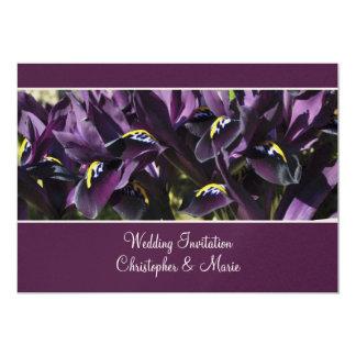 Velvety purple iris Wedding Invitation