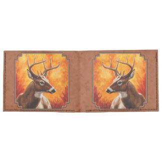 Venado de cola blanca en el otoño rojizo billeteras tyvek®