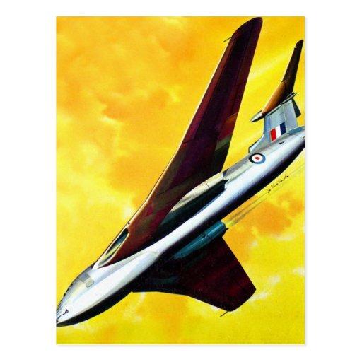 Vencedor retro de la página de Handley del avión d Tarjetas Postales