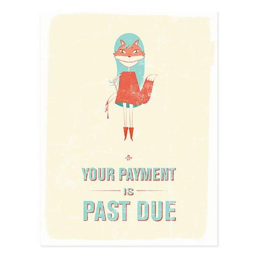 Vencimiento del pago tarjeta postal