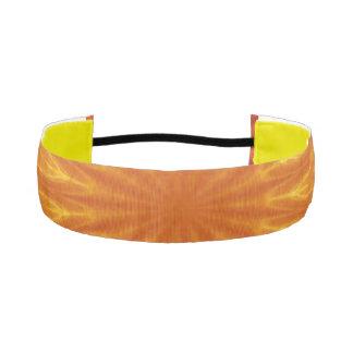 Venda antideslizante atlética anaranjada de bandas de cabello antideslizantes