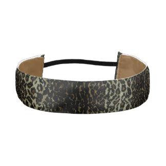Venda antideslizante del estampado leopardo bandas de cabello antideslizantes