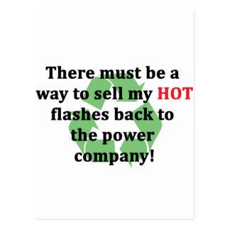 Venda mi parte posterior de Hotflashes ..... Tarjeta Postal