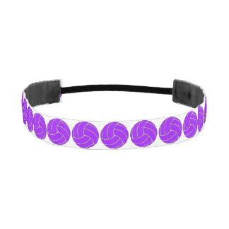 Venda púrpura y blanca de encargo del voleibol