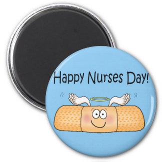 Vendaje caprichoso del día de las enfermeras de la imán redondo 5 cm