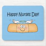Vendaje caprichoso del día de las enfermeras de la alfombrilla de ratones