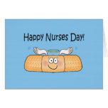 Vendaje caprichoso del día de las enfermeras de la tarjeton