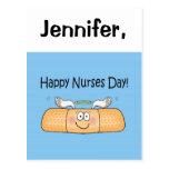 Vendaje caprichoso del día de las enfermeras de la tarjetas postales