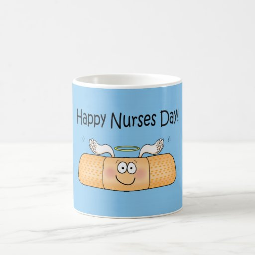 Vendaje caprichoso del día de las enfermeras de la tazas de café