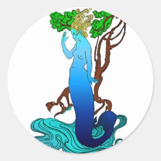 Vendedor Colvill y el pegatina de la sirena