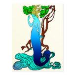 Vendedor Colvill y la postal de la sirena