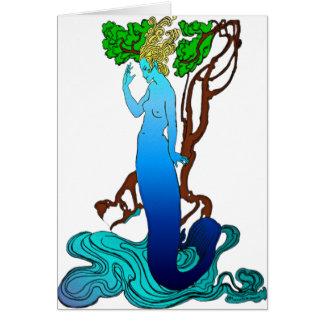 Vendedor Colvill y la tarjeta de la sirena