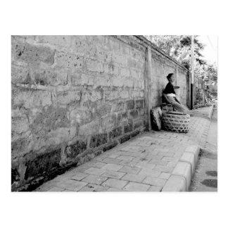 Vendedor de calle postal