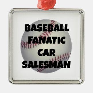 Vendedor de coches del fanático del béisbol adorno de navidad
