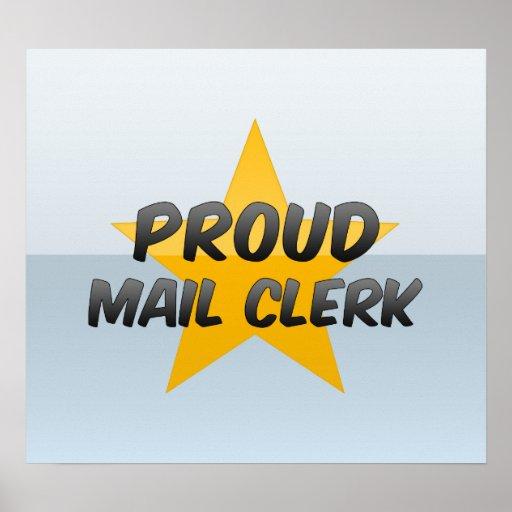 Vendedor de correo orgulloso póster