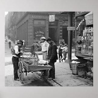 Vendedor de la almeja de Nueva York en la curva 19 Póster