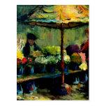 Vendedor de la flor tarjeta postal