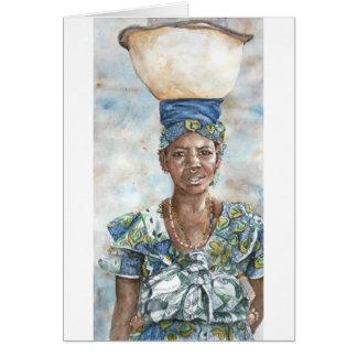 Vendedor de la leche de Fulani Tarjeta De Felicitación