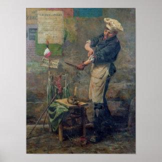Vendedor de la rata durante el cerco de París, 187 Póster