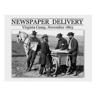Vendedor de periódico durante la guerra civil postal