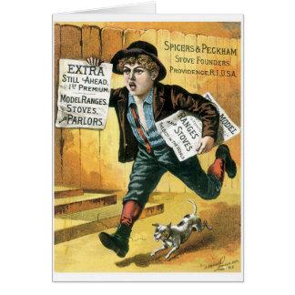 Vendedor de periódicos de los fundadores de la est felicitación