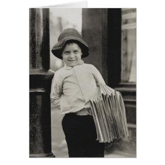Vendedor de periódicos en St. Louis - vintage Tarjeta Pequeña