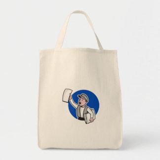 Vendedor de periódicos que vende el dibujo animado bolsa