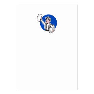 Vendedor de periódicos que vende el dibujo animado tarjetas de negocios