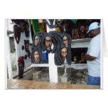 Vendedor del arte de Negril Tarjetas