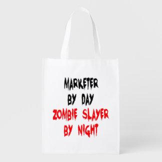Vendedor del asesino del zombi bolsas de la compra