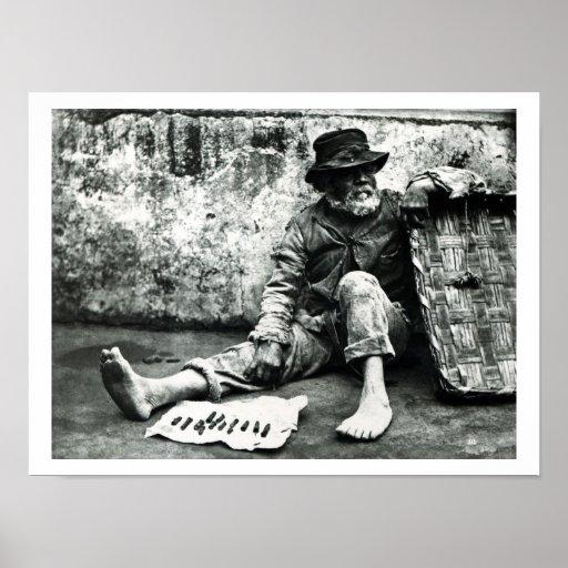 vendedor del Cigarro-fin, c, 1865 (foto de b/w) Impresiones