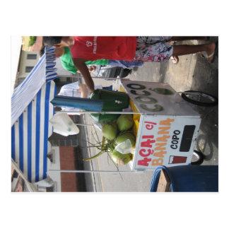 Vendedor del coco en el Brasil Tarjeta Postal