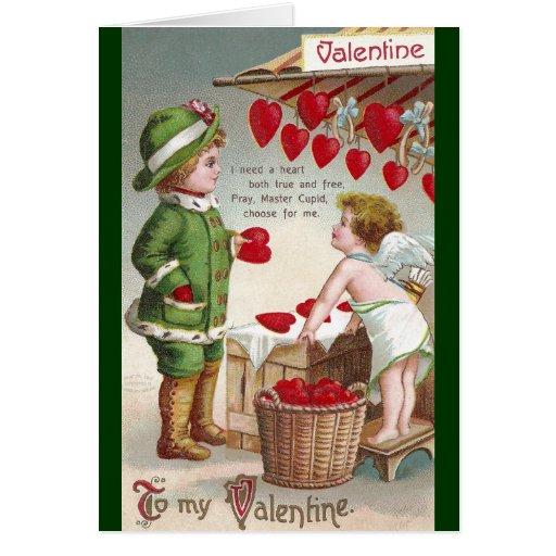 Vendedor del Cupid de la tarjeta del día de San Va