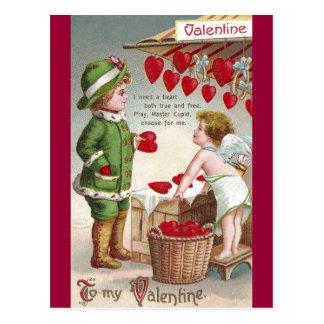Vendedor del Cupid de la tarjeta del día de San Va Tarjeta Postal