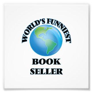 Vendedor del libro más divertido del mundo impresión fotográfica